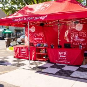 Griot's Garage outdoor show display with Free-Flow flooring