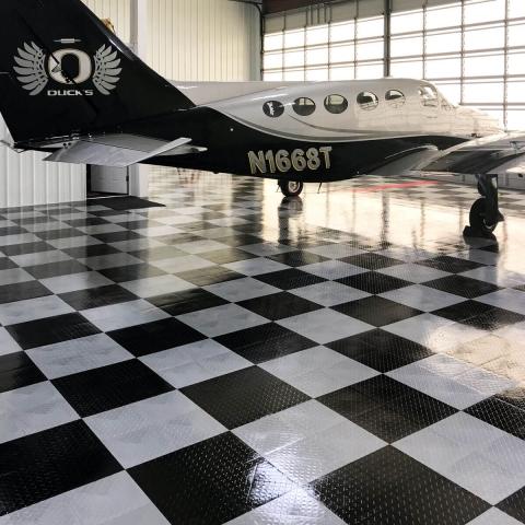 Alternate view of the Cessna hangar