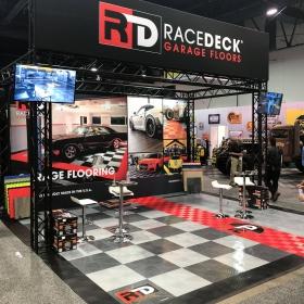 RaceDeck mobile display at SEMA show