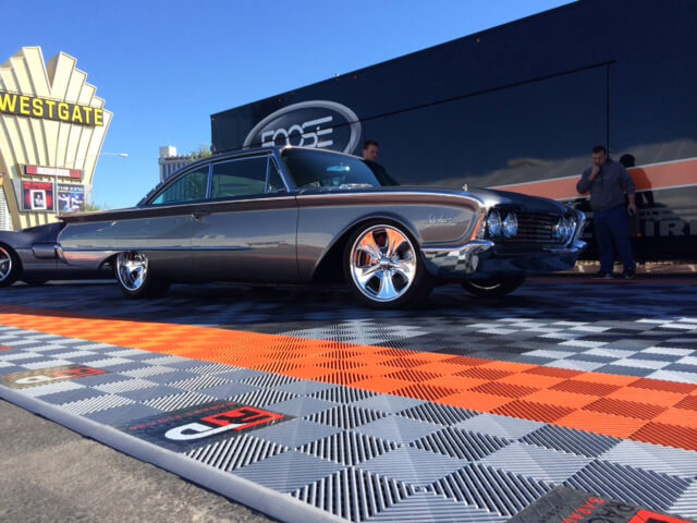 Chip Foose car display at SEMA with Free-Flow