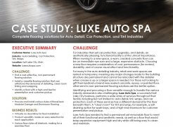 Luxe Auto Spa Case Study Preview