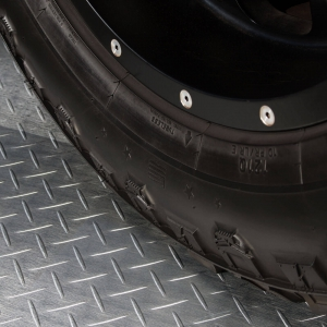 RaceDeck Diamond Metallic garage flooring is built tough.
