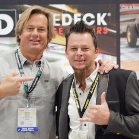 Jorgen and Dave Kindig at the RaceDeck booth