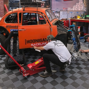 Another view of the Hoonigan booth