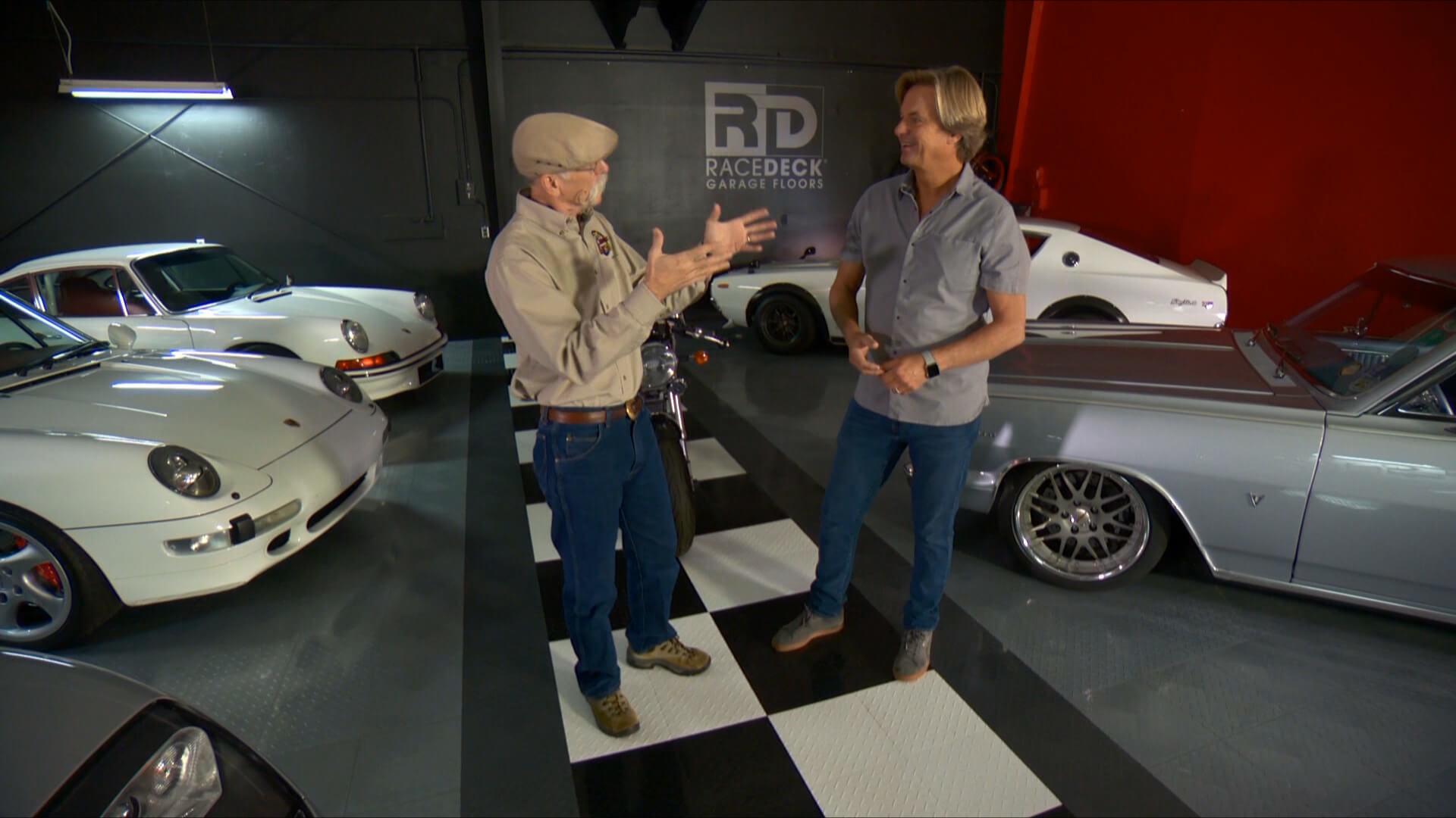 Dennis Gage and Jorgen ar the RaceDeck Speed Garage
