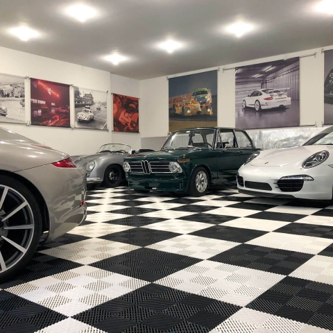 Another view of Aaron's car collection.
