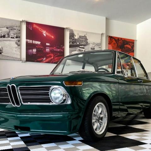 Green vintage BMW