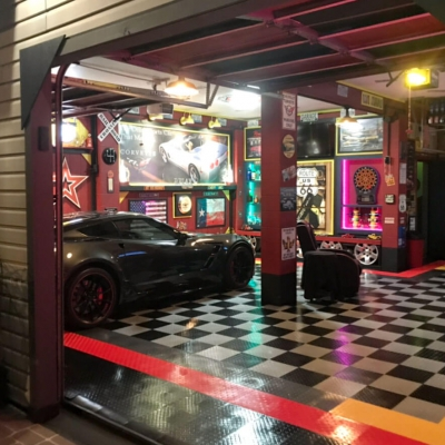 Bill Pierce's Checkered TuffShield Diamond Garage
