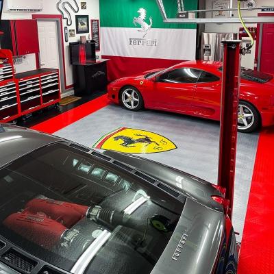Allen and Sasha Crisp's Garage with Ferraris