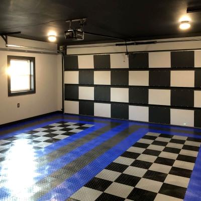 Daniel Allen's Checkered Garage and Door