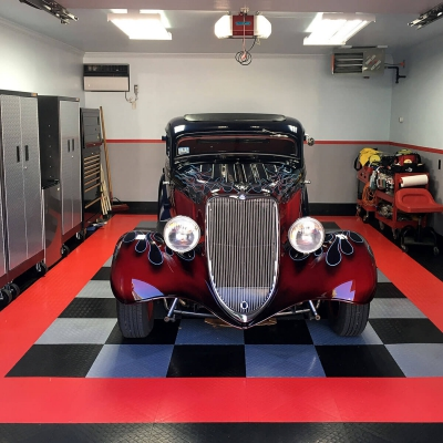 Lester Stanley's Garage with Hot Rod