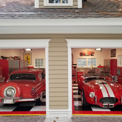 Victor Neeley's Red and White Garage