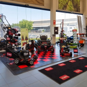 Toro display with custom logos