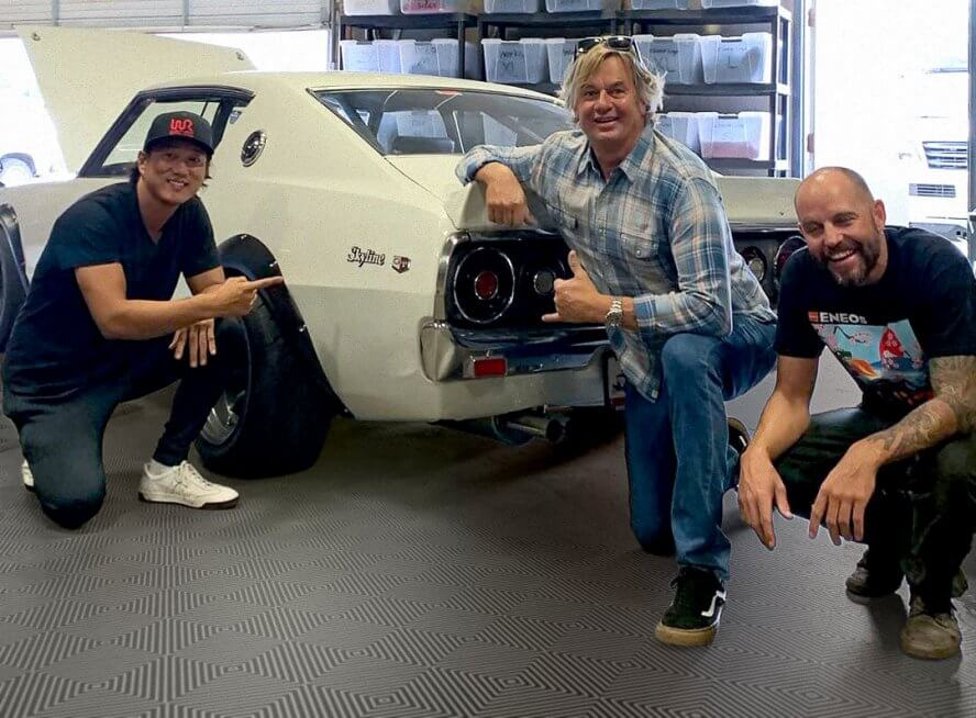 Sung Kang at Jorgen's RaceDeck Garage