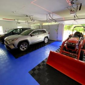 Free-Flow XLC parking areas in multi-car garage